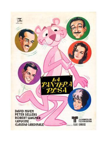 The Pink Panther Art Print Poster with Framing Option