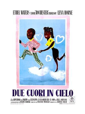 Cabin in the Sky, (aka Due Cuori in Cielo), Italian Poster Art, 1943