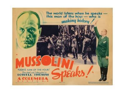 Mussolini Speaks!, Benito Mussolini (Top Left, Center and Far Right), 1933