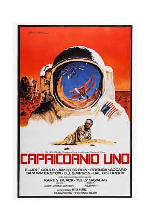 Capricorn One, (AKA Capricornio Uno), Spanish Language Poster Art, James Brolin, 1978
