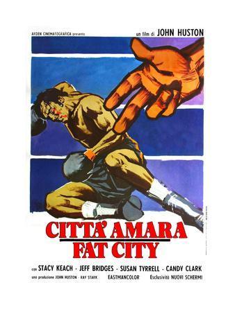 Fat City, (aka Citta' Amara), Italian Poster Art, 1972