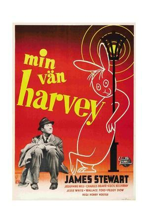 Harvey, James Stewart, Swedish Poster Art, 1950