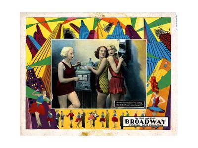 Broadway, Betty Francisco, Merna Kennedy, Evelyn Brent, 1929