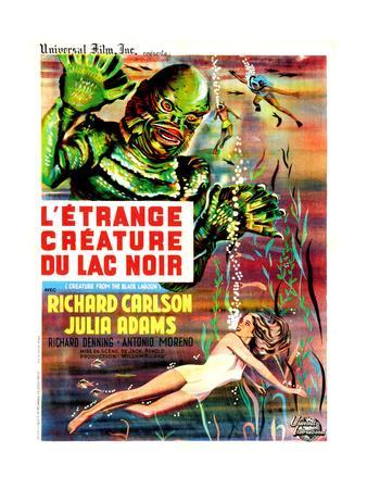 Creature from the Black Lagoon, (aka L'Etrange Creature Du Lac Noir), French Poster Art, 1954