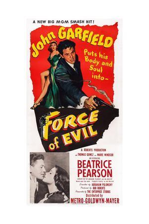 Force of Evil, John Garfield, Beatrice Pearson, 1948
