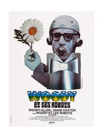 Sleeper, (aka Woody Et Les Robots), French Poster Art, Woody Allen, 1973