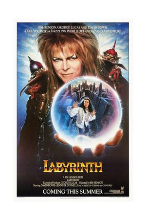Labyrinth, from Top: David Bowie, Jennifer Connelly, 1986