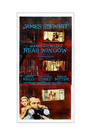 Rear Window, Bottom from Left: Grace Kelly, James Stewart on Poster Art, 1954