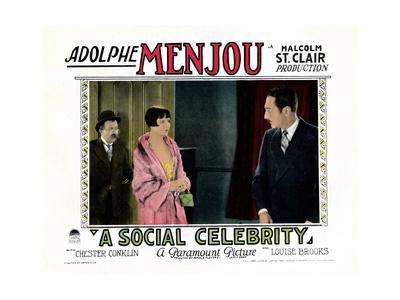 A Social Celebrity, from Left: Chester Conklin, Louise Brooks, Adolphe Menjou, 1926