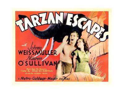 Tarzan Escapes, from Left: Johnny Weissmuller, Maureen O'Sullivan, 1936