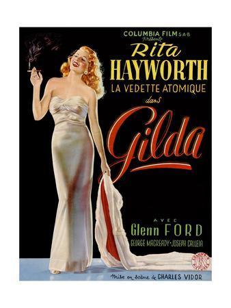 Gilda, Belgian Poster, Rita Hayworth, 1946
