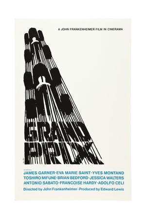 Grand Prix, Poster Art by Saul Bass, 1966
