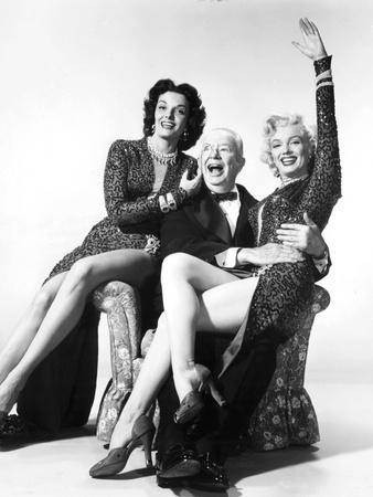 Gentlemen Prefer Blondes, Jane Russell, Charles Coburn, Marilyn Monroe, 1953