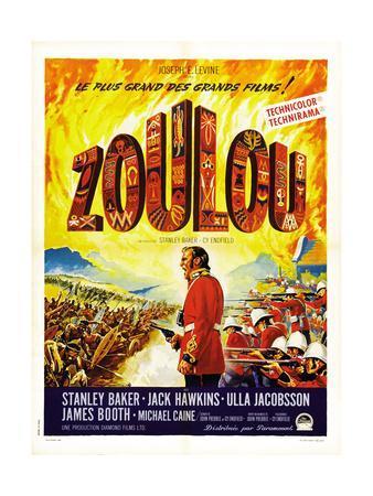 Zulu, (AKA Zoulou), French Poster Art, 1964