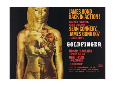 Goldfinger, Sean Connery, Honor Blackman, 1964