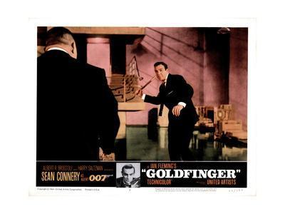 Goldfinger, from Left, Harold Sakata, Sean Connery, 1964