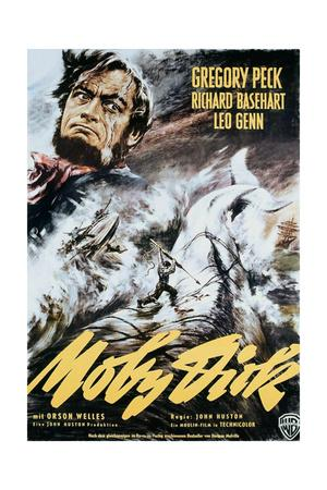 Moby Dick, Gregory Peck on Italian Poster Art, 1956