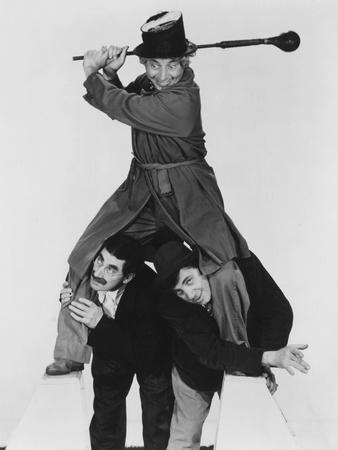 At the Circus, Harpo Marx (Top), Bottom from Left: Groucho Marx, Chico Marx, 1939