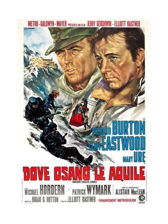 Where Eagles Dare, (AKA Dove Osano Le Aquile), from Left: Clint Eastwood, Richard Burton, 1968