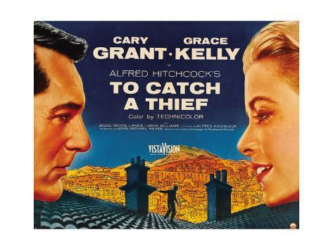 To Catch a thief Cary Grant Vintage poster print