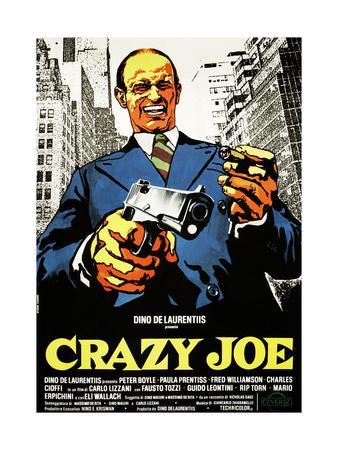 Crazy Joe, Italian Poster Art, Peter Boyle, 1974