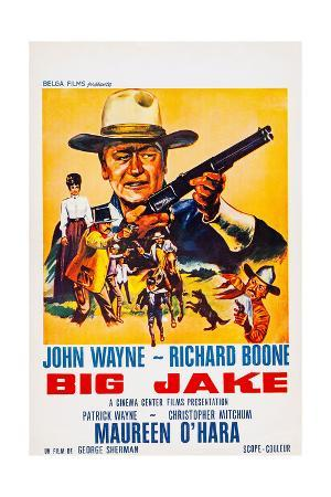Big Jake, Top: John Wayne on French Poster Art, 1971