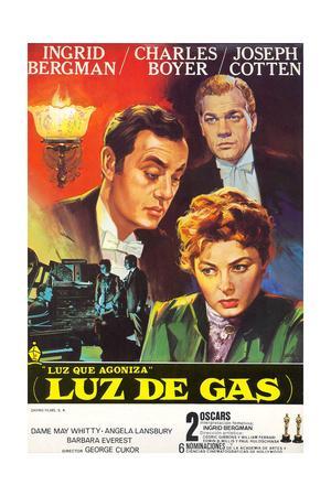 Gaslight, Joseph Cotton, Charles Boyer, Ingrid Bergman, 1944