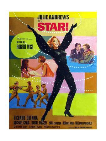 Star!, Julie Andrews on French Poster Art, 1968