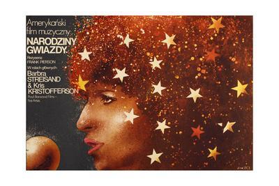 A Star Is Born, Polish Poster Art, Barbra Streisand, 1976