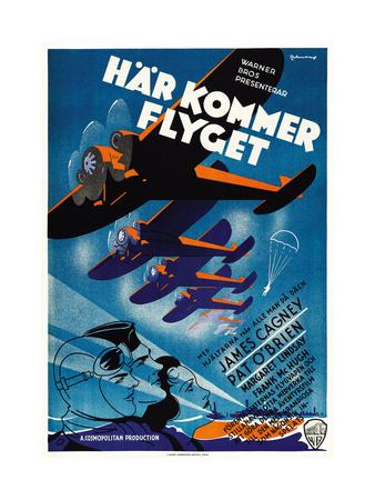 Devil Dogs of the Air, (aka Har Kommer Flyget), Swedish Poster Art, 1935