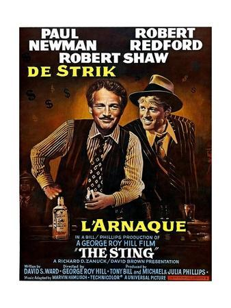 The Sting, from Left, Paul Newman, Robert Redford, 1973