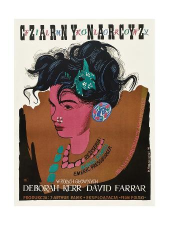 Black Narcissus, (aka Czarny Narcyz), Polish Poster Art, 1947