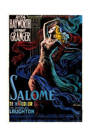 Salome, Rita Hayworth on Italian Poster Art, 1953