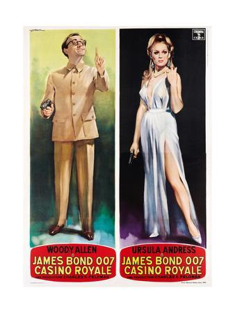 Casino Royale, Woody Allen, Ursula Andress on Italian Poster Art, 1967