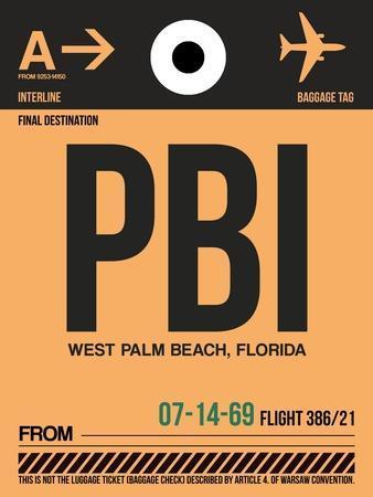 PBI West Palm Beach Luggage Tag I