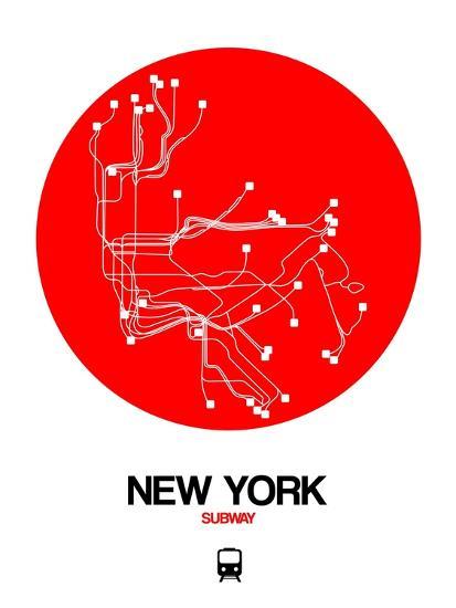 New York Subway Map Red.New York Red Subway Map