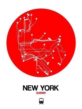 New York Red Subway Map