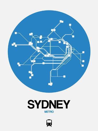 Sydney Blue Subway Map