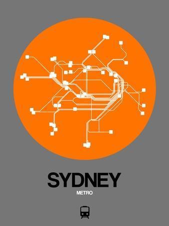 Sydney Orange Subway Map