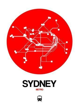 Sydney Red Subway Map