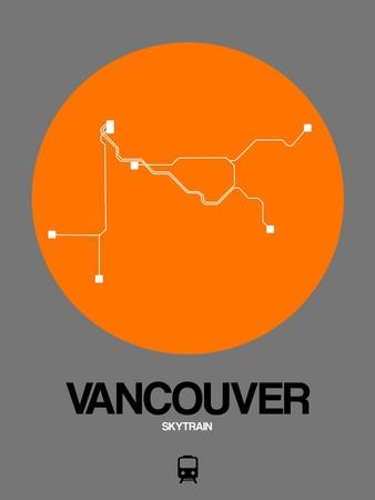 Vancouver Orange Subway Map