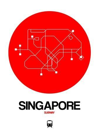 Singapore Red Subway Map
