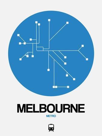 Melbourne Blue Subway Map