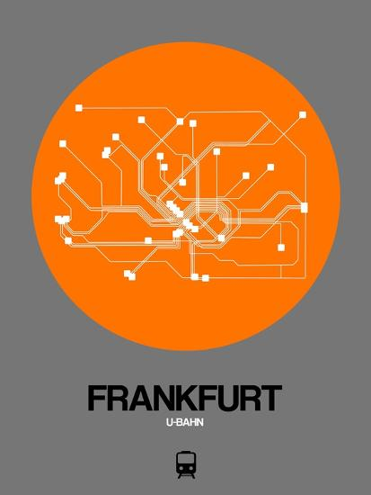 Subway Map Baseball.Frankfurt Orange Subway Map