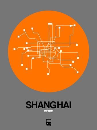 Shanghai Orange Subway Map