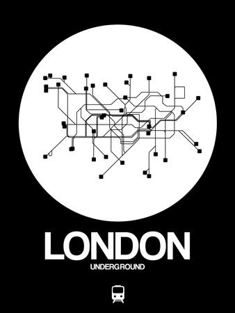 London White Subway Map