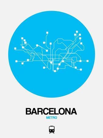 Barcelona Blue Subway Map