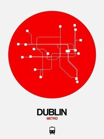 Dublin Red Subway Map