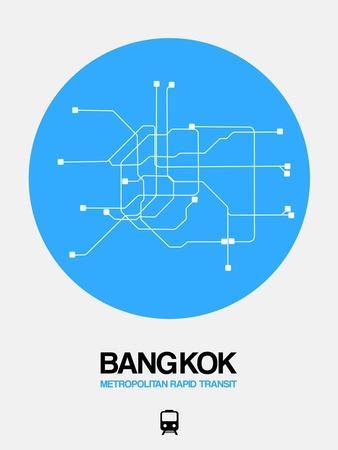 Bangkok Blue Subway Map