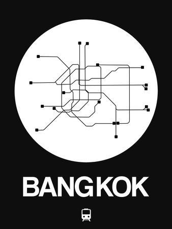 Bangkok White Subway Map